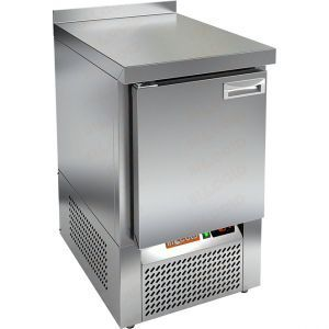 Стол холодильный, GN1/1, L0.57м, борт H50мм, 1 дверь глухая, ножки, -2/+10С, нерж.сталь, дин.охл., агрегат нижний