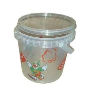 Стакан V 32 пластиковый для сахарной ваты, «Сахарная вата», 1л., с крышкой,