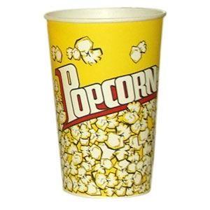 V 46 «Желтый», стакан бумажный для попкорна