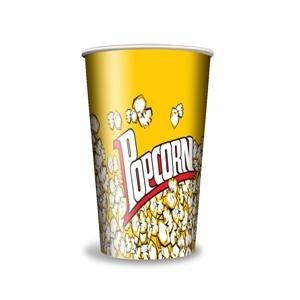 V 32 «Желтый» , стакан бумажный для попкорна