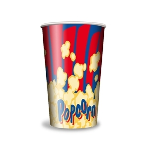 V 32 «Красный»,  стакан бумажный для попкорна