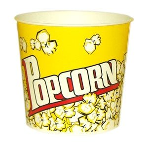 V 85 «Желтый», стакан бумажный для попкорна