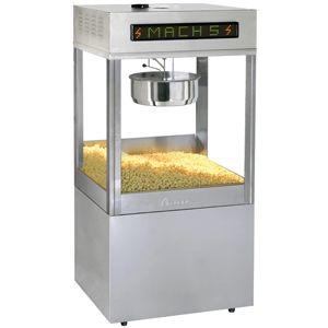 Попкорн аппарат, 32oz, Mach5, нержавеющая сталь, насос, переключатель соль/сахар (Уценённое)
