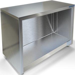 Подставка под плиту ИПП-610134, ИПК-610114, 1200х700х550мм, без борта, полузакрытая без дверей, нерж.сталь 430, сварная