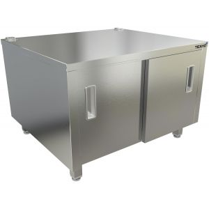 Подставка под плиту,  800х700х550мм, без борта, закрытая, 2 двери-купе, нерж.сталь 430, сварная