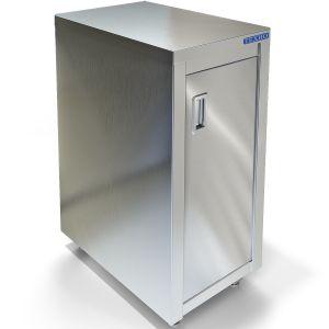 Подставка под плиту ИПП-210134, ИПВ-120114,  400х700х550мм, без борта, закрытая, 1 дверь, нерж.сталь 430, сварная