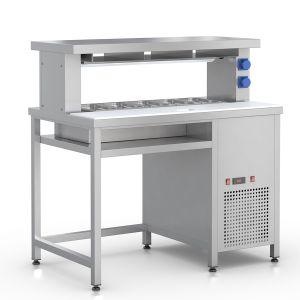 СФ-125Н – стол фасовочный пристенный с охл. ванной и зоной для нарезки