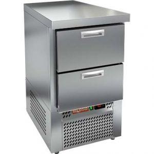 Стол холодильный, GN1/1, L0.57м, без борта, 2 ящика, ножки, -2/+10С, нерж.сталь, дин.охл., агрегат нижний