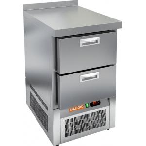 Стол морозильный, GN1/1, L0.57м, борт H50мм, 2 ящика, ножки, -10/-18С, нерж.сталь, дин.охл., агрегат нижний