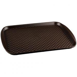 Поднос L 45см w 35см прямоугольный, полистирол коричневый