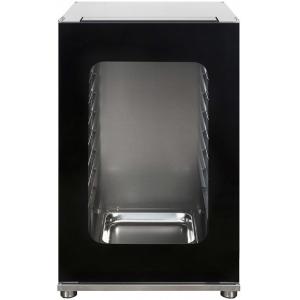 Шкаф расстоечный для печей ALFA43-45,  8x(435х320мм) или 8GN2/3, 1 дверь стекло, +40/+45С, нерж.сталь, 220V, ножки, электромех.упр., увлаж.