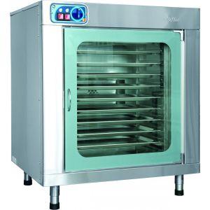 Шкаф расстоечный, 10GN1/1, 1 дверь распашная стекло, +20/+85С, нерж.сталь, 220V, ножки, электромех.упр., увлажнение