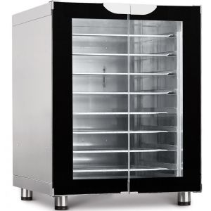 Шкаф расстоечный,  8GN1/2, 2 двери распашные стекло, +30/+85С, нерж.сталь, 220V, ножки, электромех.упр., увлажнение