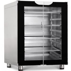 Шкаф расстоечный,  8х(460х330/435х320), 2 двери распашные стекло, +30/+85, нерж.сталь, 220V, ножки, электромех.упр., увлажнение