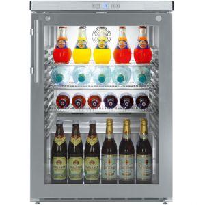 Шкаф холодильный д/напитков (минибар), 141л, 1 дверь стекло, 3 полки, ножки, +1/+15С, дин.охл., нерж.ст.
