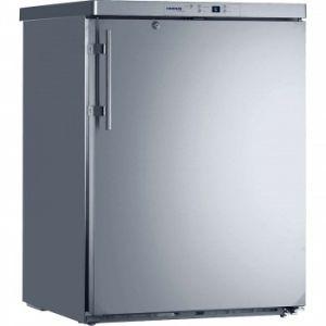 Шкаф морозильный,  143л, 1 дверь глухая, 3 полки, ножки, -9/-26С, стат.охл., нерж.сталь, 4 корзины