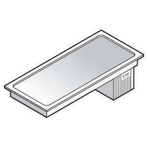 Поверхность холодильная встраиваемая, L1.45м, стат.охл., 4GN1/1