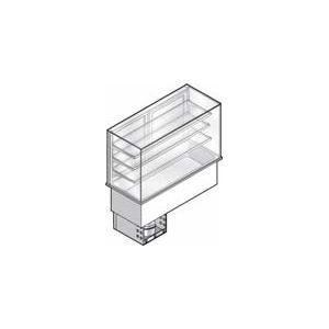 Витрина холодильная встраиваемая, вертикальная, L1.13м, 3 полки-решетки, -1/+5С, нерж.сталь, дин.охл., ванна охл. 3GN1/1, закрыта со стороны покуп.