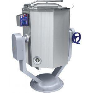 Котел пищеварочный электрический, опрокидывание ручное,  60л, нагрев косвенный, корпус нерж.сталь