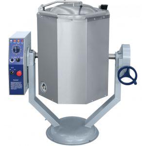 Котел пищеварочный электрический, опрокидывание ручное,  60л, нагрев косвенный, корпус нерж.сталь, миксер