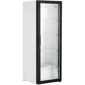 Шкаф холодильный,  390л, 1 дверь стекло, 4 полки, 2 ножки, 2 ролика, +1/+10С, дин.охл., белый
