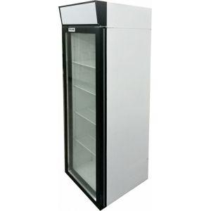 Шкаф холодильный,  390л, 1 дверь стекло, 4 полки, 2 ножки, 2 ролика, +1/+10С, дин.охл., белый, канапе