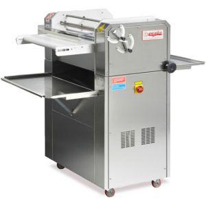 Тестозакатка электрическая напольная, длина роликов 600мм, управление ручное, вес заготовки 50-1000г, нерж.сталь