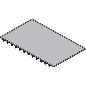 Противень для пароконвектомата, 530х325мм, алюминий, тефлоновое покрытие, теплопроводный