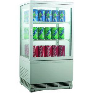 Витрина холодильная настольная, вертикальная, L0.43м, 2 полки, 0/+12С, дин.охл., белая, 4-х стороннее остекление, подсветка верхняя