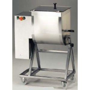 Фаршемешалка электрическая напольная, разовая загрузка 25/50кг, 1 лопасть, колеса, 380V, CE