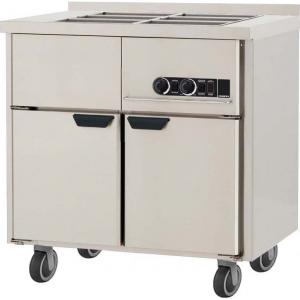 Мармит электрический для вторых блюд, L0.86м, борт H40мм, 2GN1/1, нагрев паровой, шкаф тепловой, нерж.сталь, ролики
