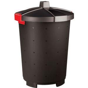 Бак для отходов,  65л, пластик чёрный, крышка