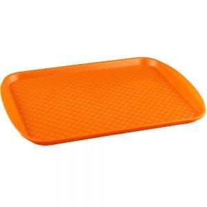 Поднос L 45см w 35см прямоугольный, полистирол оранжевый