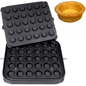 Форма для аппарата для тарталеток и вафель CookMatic, 30 ячеек круг D51х17мм, с фест.краем