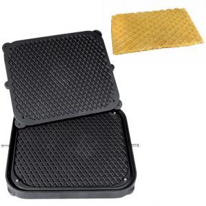 Форма для аппарата для тарталеток и вафель CookMatic,  1 сектор тонкие вафли и печенье, диагональная сетка
