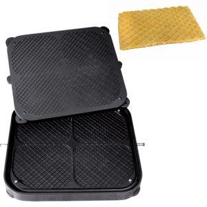 Форма для аппарата для тарталеток и вафель CookMatic,  4 сектора тонкие вафли и печенье, диагональная сетка