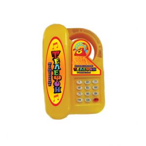 Игрушка-телефон МУЗЫКАЛЬНЫЙ пластик, 30шт