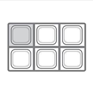Гастроемкость GN1/6х100, поликарбонат