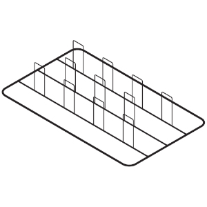 Решётка для куры-гриль для пароконвектомата, 530х325мм, нерж.сталь, 8 крюков