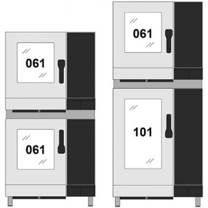 Комплект для установки пароконвектоматов электрических: NAEB(V071) на NAEB(V101), SAEB(V071) на SAEB(V101), AREN(S064) на AREN(S084)