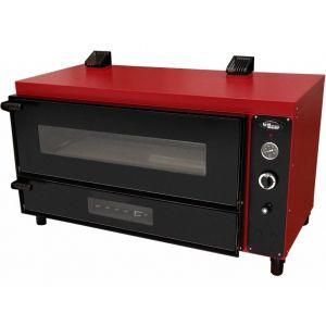 Печь для пиццы газовая, подовая, 1 камера  960х360х230мм, 2 пиццы D300мм, электромех.управление, дверь стекло, под камень, магистральный газ