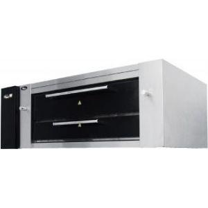 Печь для пиццы газовая, подовая, 1 камера 1240х720х200мм, 3 пиццы D400мм+4 пиццы D310мм, электромех.управление, дверь стекло, под камень, магистр.газ