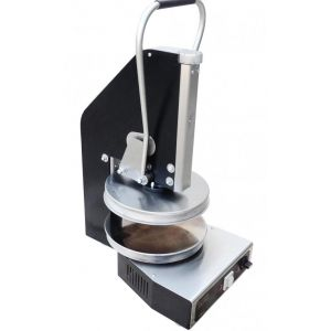 Пресс для пиццы электрический настольный, D350мм, прессование ручное, без борта, подпекание, нерж.сталь, поверхность верхняя прижимная