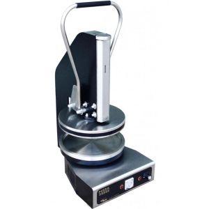 Пресс для пиццы электрический настольный, D300мм, прессование ручное, борт, подпекание, нерж.сталь, поверхность верхняя прижимная