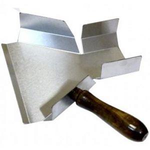 Совок для картофеля фри, с деревянной ручкой, нерж.сталь