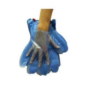 Перчатки полиэтиленовые с отрывом голубые, 2000шт