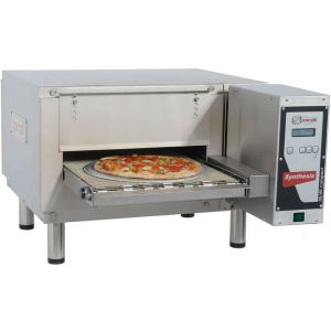 Печь для пиццы электрическая, конвейерная, 1 камера 400х570х90мм, электронное управление, нерж.сталь, ножки