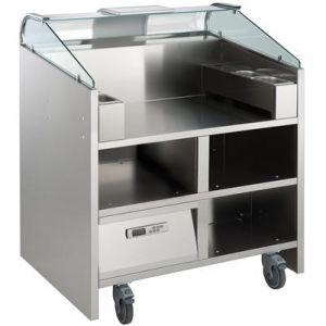 Прилавок передвижной, д/нагляд.кулинарии, вместимость 2 агрегата 220В; 4GN1/9-65, 2 подставки д/GN1/9