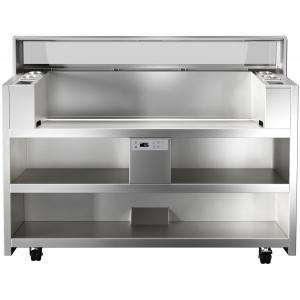 Прилавок передвижной, д/нагляд.кулинарии, вместимость 3 агрегата 380В; 3GN1/9-65, 2 подставки д/GN1/9