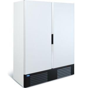 Шкаф холодильный, 1500л, 2 двери глухие, 8 полок, ножки, 0/+7С, дин.охл., белый, агрегат нижний